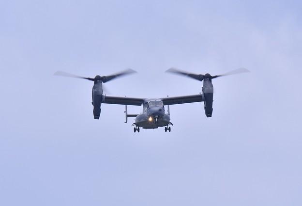 撮って出し。。三沢基地航空祭前日フライイン 初の米空軍のCV22オスプレイ 飛来 20180908