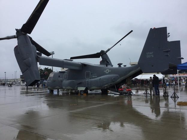撮って出し。。雨の三沢基地航空祭 国内初公開横田の米空軍CV22オスプレイ  20180909