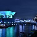 大さん橋旅客ターミナルビルと護衛艦いずも(2) 20180601