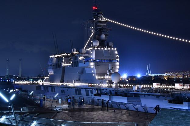 大さん橋から見える護衛艦いずもの艦橋 20180601