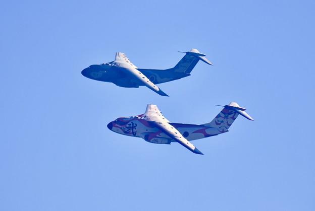 撮って出し。。入間基地航空祭 歌舞伎塗装機C-1逆光のファンブレイク 11月3日