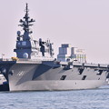 Photos: 関門海峡の海から門司港停泊中護衛艦ひゅうが(2) 20180602