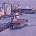 Photos: 門司港の夕暮れ。。護衛艦ひゅうが 20180602