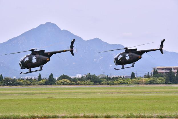 陸自ヘリOH1の機動飛行(3)