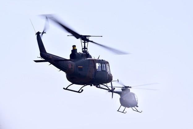 防府基地航空祭 陸自ヘリUH1デモ飛行(4)
