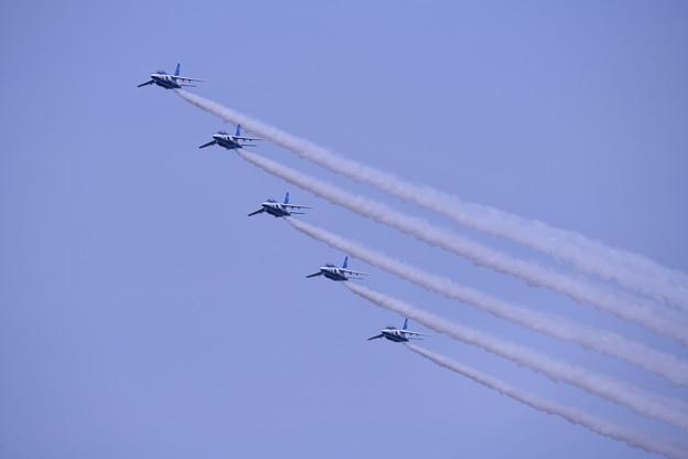 防府基地航空祭 ブルーインパルス トレイル隊形