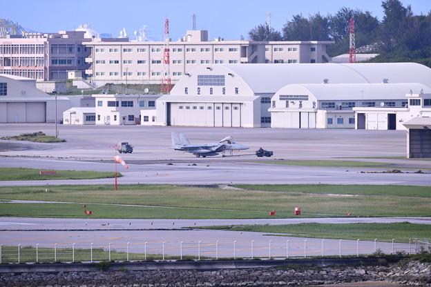 那覇の瀬長島から那覇基地のF15イーグル 20180617
