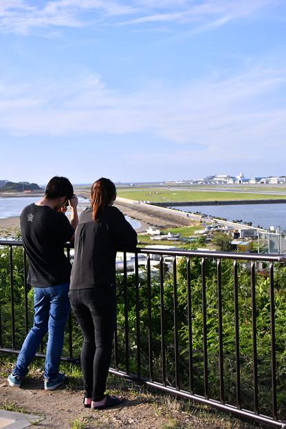 夕暮れの瀬長島から那覇空港眺めて 20180617