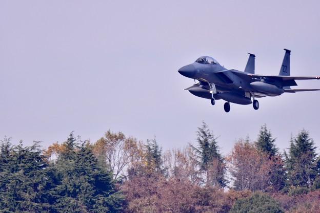 撮って出し。。サプライズ的に横田基地へ飛来 嘉手納のZZイーグル アプローチ 11月17日