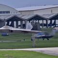 Photos: 沖縄嘉手納基地。。アラスカのF22ラプター 超低空上がり(1) 20180618