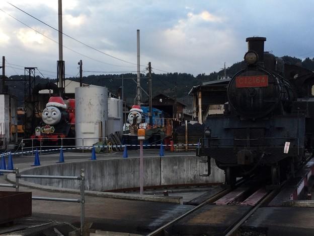 撮って出し。。クリスマス限定トーマスとジェームスに会いに大井川鉄道 12月16日