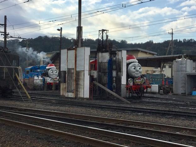 撮って出し。。クリスマス限定トーマスとジェームスに会いに大井川鉄道 出発準備 12月16日
