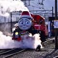 撮って出し。。クリスマス限定機関車ジェームス 出発準備へ 大井川鉄道 12月16日