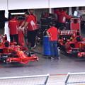 Photos: ピットに歴代フェラーリF1 走行準備中(1) 20180630