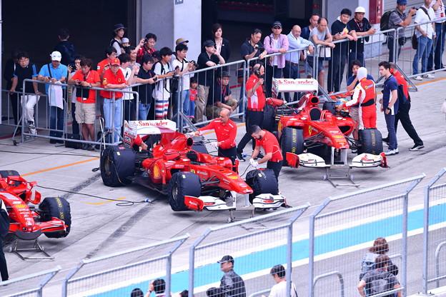 富士スピードウェイ 歴代フェラーリF1 エンジンのサウンドが響きわたる 20180630