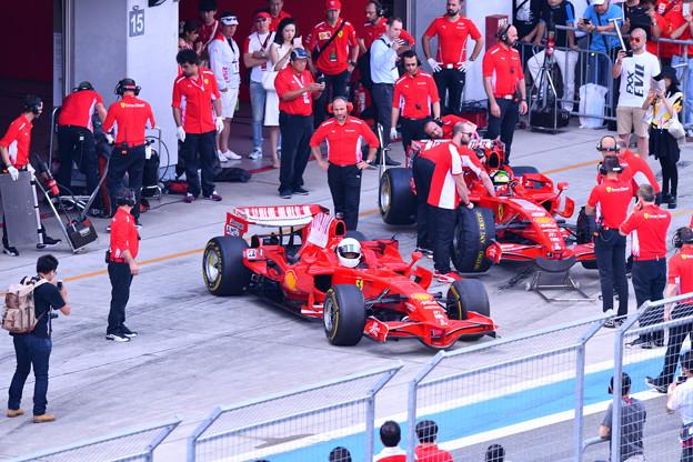 富士スピードウェイ 歴代フェラーリF1サーキットへ 20180630