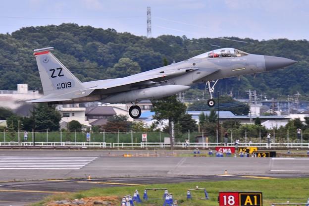 今年の横田は熱かった7月台風避難で嘉手納からZZイーグル飛来(5) 20180708