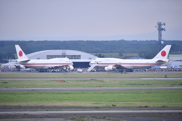 2018年振り返って。。千歳基地航空祭 ラストシグナス2機(2) 20180722