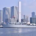 Photos: 晴海埠頭に寄港したイギリス海軍揚陸艦アルビオン。。20180805