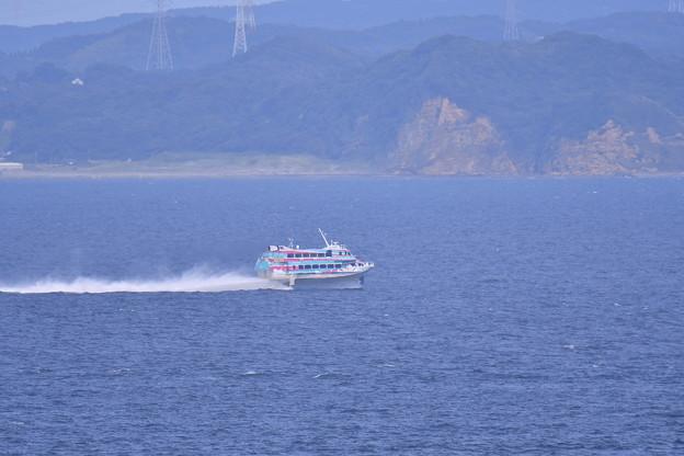 2018年振り返って。。夏休みの観音崎から見る浦賀水路水中翼船  20180814