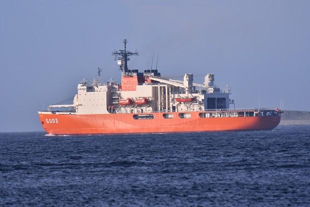 2018年振り返って。。浦賀水路を砕氷艦しらせ 航行 20180814