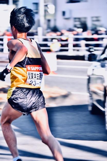撮って出し。。颯爽と次の走者へ襷を。。鶴見中継所 1月3日