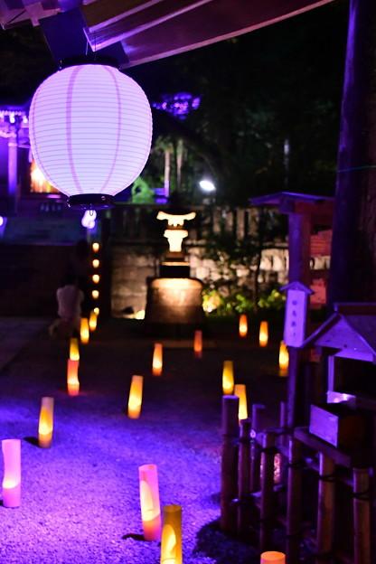 夏の終わり御霊神社ライトアップ 長谷灯り(1) 20180826