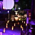 Photos: 夏の終わり御霊神社ライトアップ 長谷灯り(1) 20180826