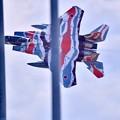 Photos: 新色の飛行教導群アグレッサー 機動飛行(3) スゲー低く