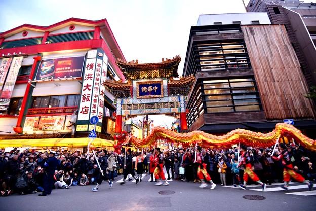 撮って出し。。横浜中華街パレード祝舞遊行 龍舞 20190216