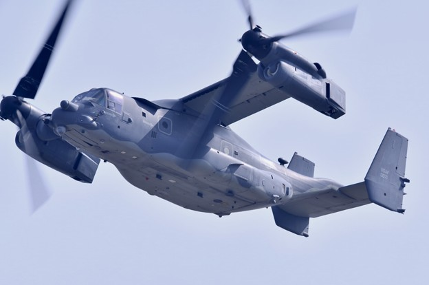 撮って出し。。岩国遠征 到着してすぐに米空軍CV-22オスプレイ 上がり(1) 20190224