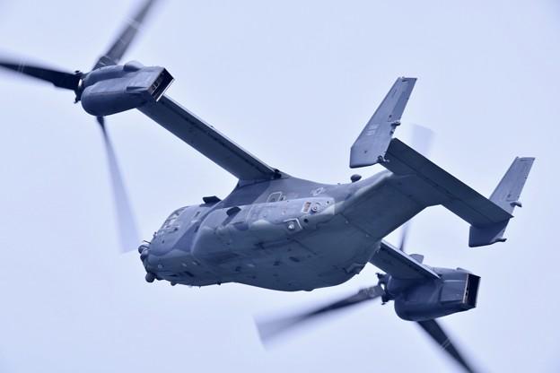 撮って出し。。岩国遠征 到着してすぐに米空軍CV-22オスプレイ 上がり(2) 20190224