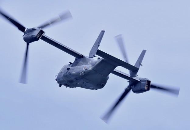 撮って出し。。岩国遠征 到着してすぐに米空軍CV-22オスプレイ 上がり(3) 20190224