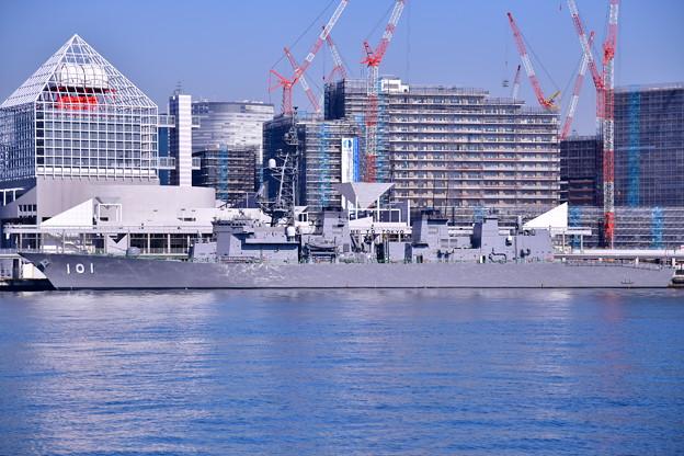 撮って出し 朝の晴海埠頭 ホストシップ護衛艦むらさめ 20190309