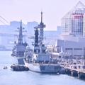 Photos: 撮って出し 豊洲から晴海埠頭を。。イギリス海軍フリゲート艦モンテローズ後方 20190309