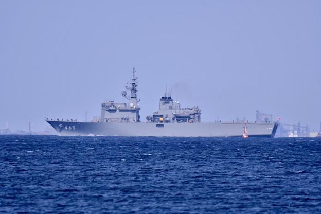 横須賀馬堀海岸から見える掃海母艦うらが。。横須賀基地へ 20190317