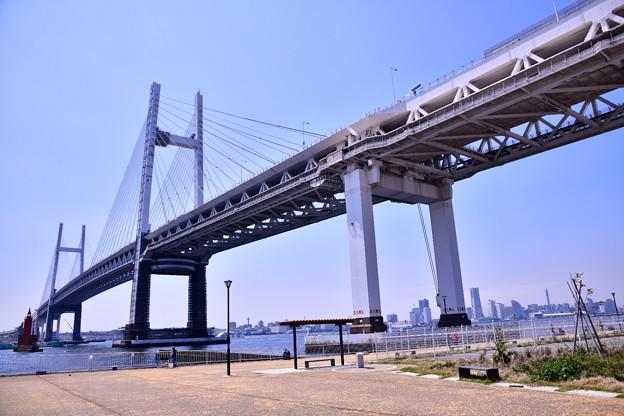 撮って出し。。横浜散歩 大黒埠頭からベイブリッジ
