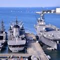 Photos: 撮って出し。。護衛艦ゆうぎり、補給艦ときわ、護衛艦いせ 20190420
