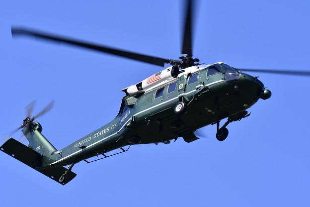 撮って出し。。厚木基地よりトランプ大統領乗せる専用ヘリコプターマリーンワン(4)