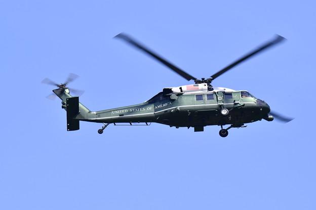 撮って出し。。厚木基地よりトランプ大統領乗せる専用ヘリコプターマリーンワン(5)
