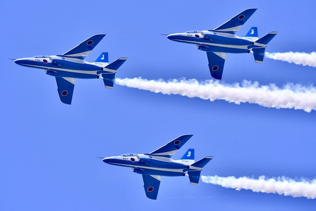 8月の撮って出し。。松島基地航空祭 やっと3機復活の飛行