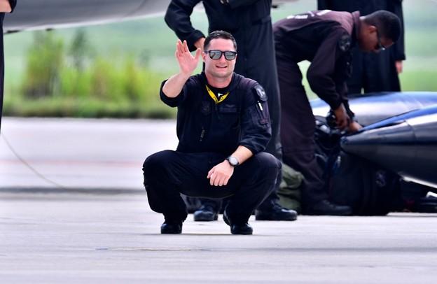 8月の撮って出し。。松島基地航空祭 F16デモチーム パイロット プリモさん 20190825