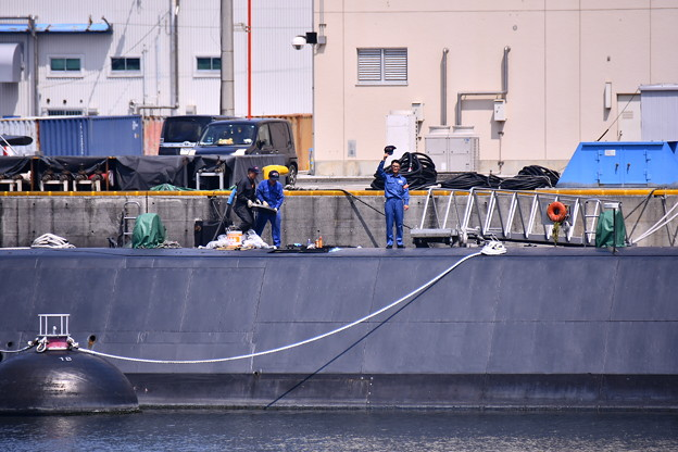 Photos: 9月の撮って出し。。横須賀軍港めぐりから潜水艦を守る人 20190901