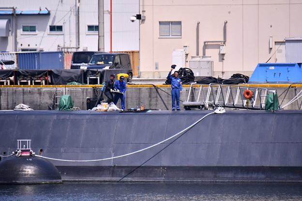9月の撮って出し。。横須賀軍港めぐりから潜水艦を守る人 20190901