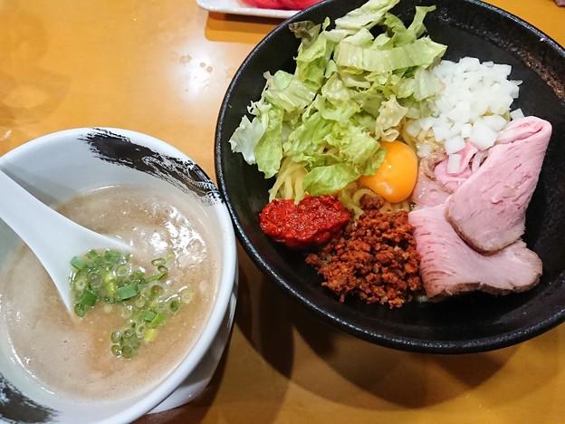 180317-2 扇@さいたま市西区~「限定★辛玉まぜつけ麺」