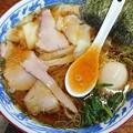 写真: 180520 とら食堂@白河市~「ワンタン麺+半熟煮玉子」