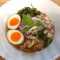 190105 麺'sキッチン RIRI@笠間市~「味玉金煮干しそば」