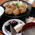 若鶏の唐揚げ定食(道の駅・みかわ【愛媛】)
