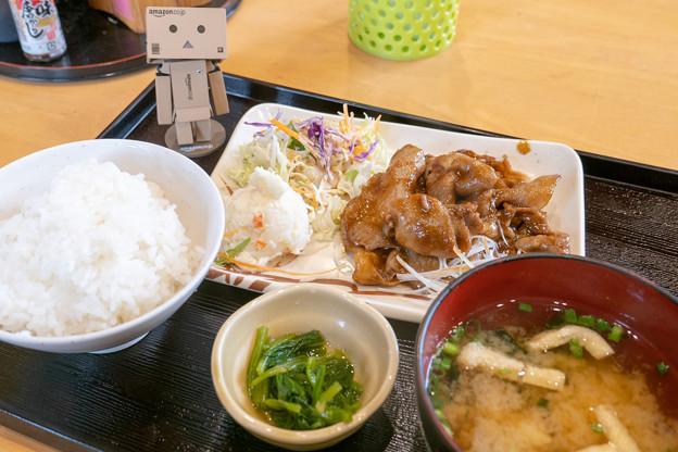 豚肉の樋脇味噌焼き定食(道の駅・樋脇【鹿児島】)