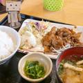 Photos: 豚肉の樋脇味噌焼き定食(道の駅・樋脇【鹿児島】)